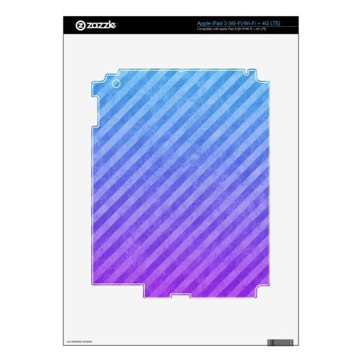 Modelo azul y rosado de la raya del Grunge iPad 3 Skin