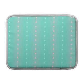Modelo azul y rosado de las flechas funda  MacBook