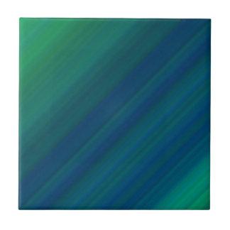 Modelo azul y verde azulejo cuadrado pequeño