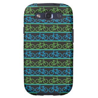 Modelo azul y verde de la bicicleta de la bici galaxy s3 funda