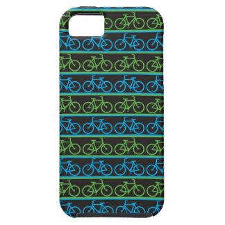 Modelo azul y verde de la bicicleta de la bici iPhone 5 funda