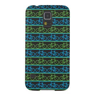 Modelo azul y verde de la bicicleta de la bici carcasas de galaxy s5