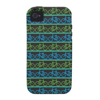 Modelo azul y verde de la bicicleta de la bici iPhone 4/4S fundas