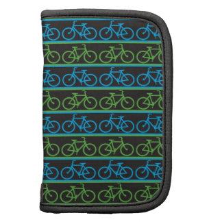 Modelo azul y verde de la bicicleta de la bici organizador