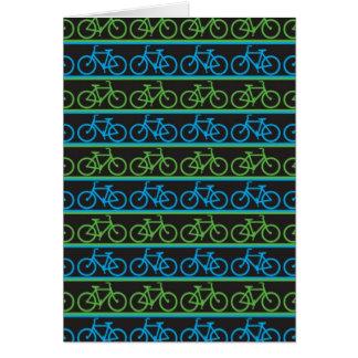 Modelo azul y verde de la bicicleta de la bici tarjeta