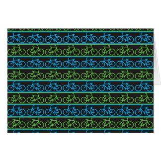 Modelo azul y verde de la bicicleta de la bici felicitacion