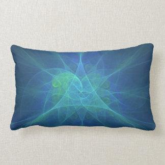 Modelo azul y verde del fractal cojin