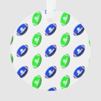 Modelo azul y verde del fútbol