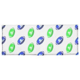 Modelo azul y verde del fútbol billeteras tyvek®