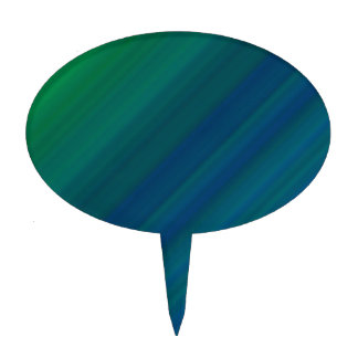 Modelo azul y verde figura de tarta