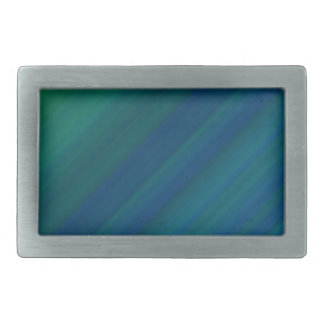 Modelo azul y verde hebilla de cinturón rectangular