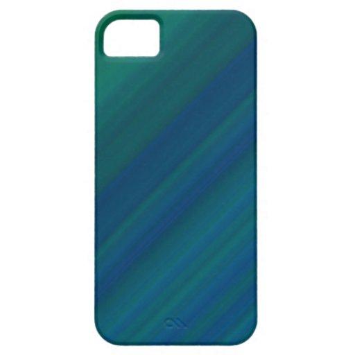Modelo azul y verde iPhone 5 carcasa