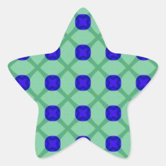 Modelo azul y verde pegatina en forma de estrella