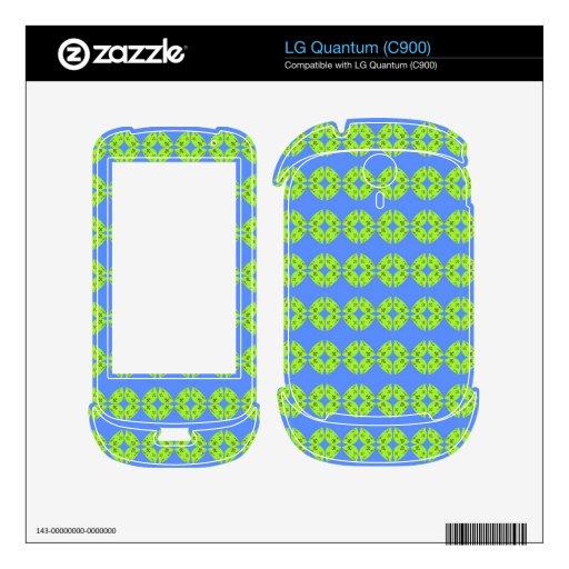 modelo azulverde de la cal retra brillante skins para LG quantum