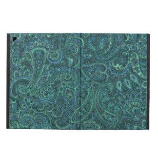 Modelo azulverde de Paisley del vintage de los