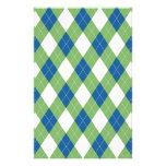 Modelo azulverde del argyle papeleria personalizada