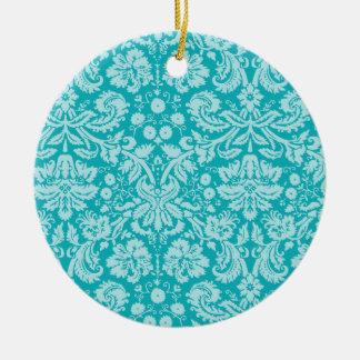 Modelo azulverde del damasco ornamentos de reyes