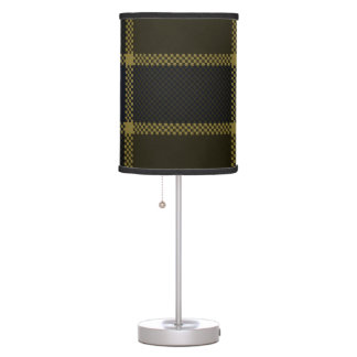 Modelo azulverde moderno de las telas escocesas lámpara de escritorio