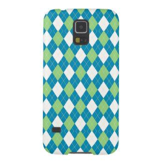 Modelo azulverde y blanco de Argyle Carcasa De Galaxy S5