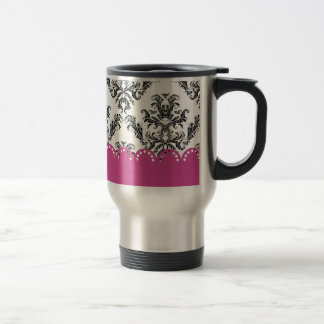Modelo B&W of the vintage one with rose Coffee Mugs