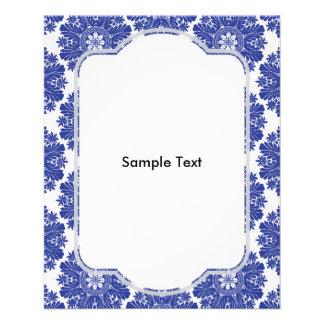 """Modelo barroco azul y blanco hermoso folleto 4.5"""" x 5.6"""""""