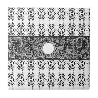 Modelo barroco blanco negro con clase a modificar tejas  cerámicas