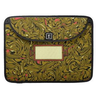Modelo barroco de bronce abstracto con amarillo y fundas para macbooks