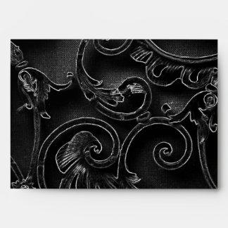 Modelo barroco gótico negro del remolino sobre