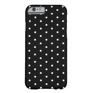 Modelo básico del lunar blanco y negro simple funda para iPhone 6 barely there