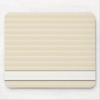 Modelo beige de la raya del color del moreno tapete de ratón