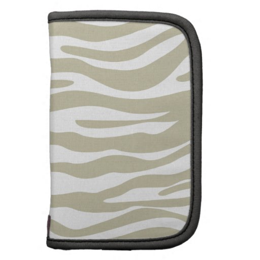 Modelo beige de moda del estampado de zebra organizador
