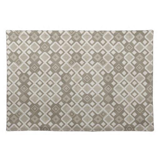 Modelo beige del diamante del mosaico manteles individuales