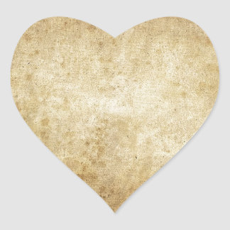 Modelo beige rústico elegante de la moda del art pegatina en forma de corazón