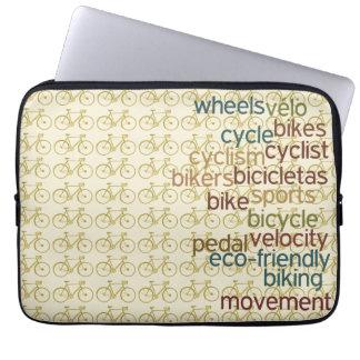 modelo biking del ~ de las palabras de bicis funda portátil
