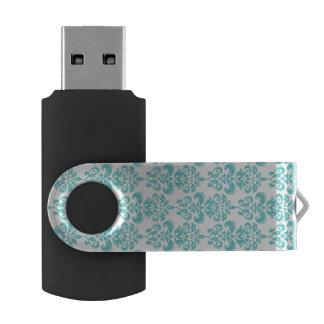 Modelo blanco 2 del damasco del vintage del trullo memoria USB 2.0 giratoria