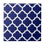 Modelo blanco #5 de Quatrefoil del marroquí de los Azulejo Ceramica