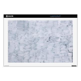 modelo blanco abstracto mínimo de la textura de la 43,2cm portátil calcomanía