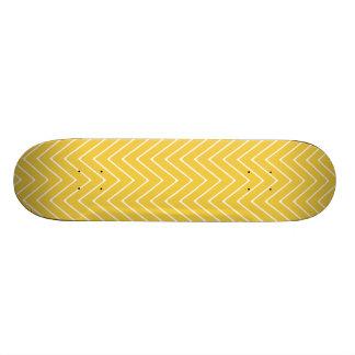Modelo blanco amarillo 2A de Chevron Monopatín Personalizado