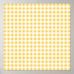Modelo blanco amarillo de la guinga poster