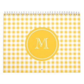 Modelo blanco amarillo de la guinga, su monograma calendario