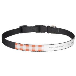 Modelo blanco anaranjado de la guinga collares para perros