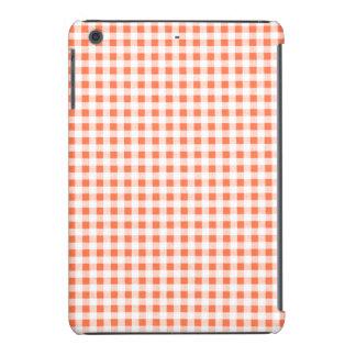 Modelo blanco anaranjado de la guinga funda de iPad mini