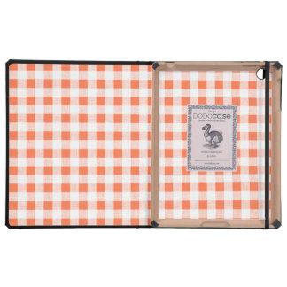 Modelo blanco anaranjado de la guinga iPad carcasas