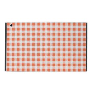 Modelo blanco anaranjado de la guinga iPad carcasa
