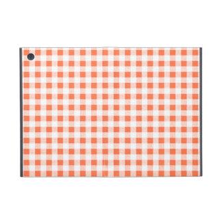 Modelo blanco anaranjado de la guinga iPad mini carcasa