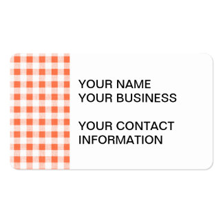 Modelo blanco anaranjado de la guinga plantilla de tarjeta de negocio