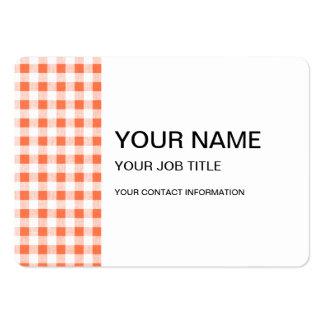 Modelo blanco anaranjado de la guinga tarjeta personal