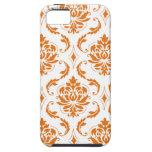 Modelo blanco anaranjado femenino del damasco del  iPhone 5 protector