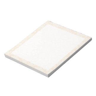 Modelo blanco antiguo del damasco blocs de papel