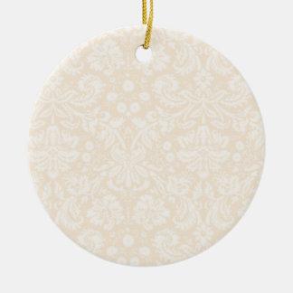 Modelo blanco antiguo del damasco ornato